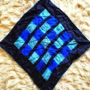 Vintage silky square scarf
